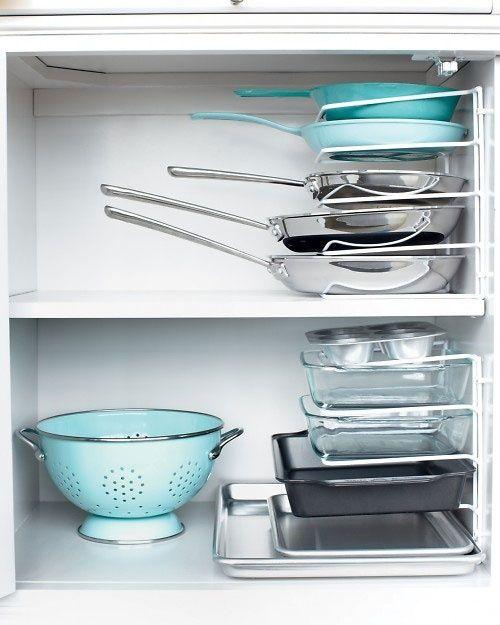 50 Genius Storage Ideas Turn A Bakeware Rack Sideways And Use It To Pans