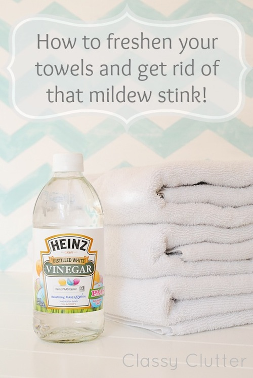 How To Remove Mildew Smell From Towels Diy Household Cleaning Tips Tricks And