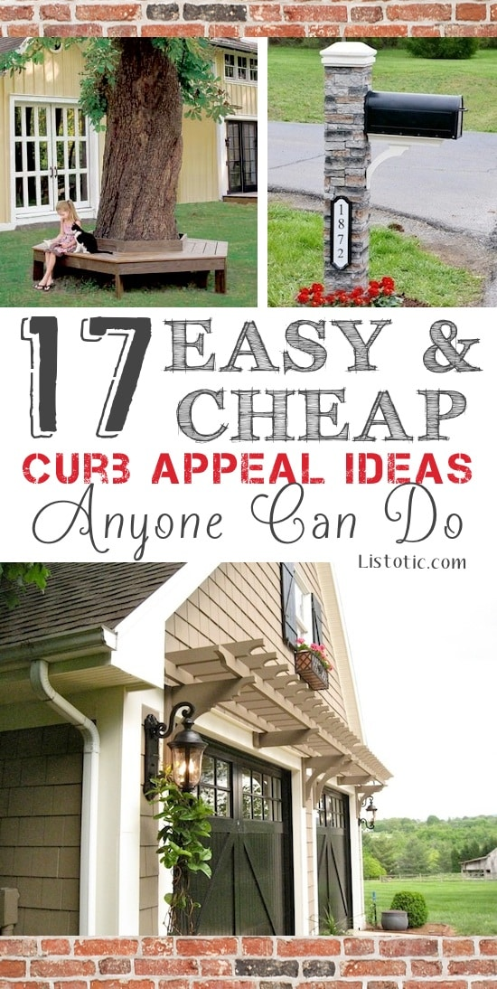 pinterest ideas for garage trellis - 17 Easy and Cheap Curb Appeal Ideas Anyone Can Do on a