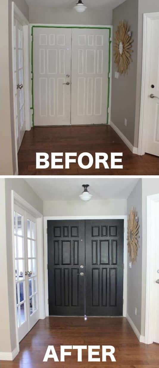 Paint The Inside Of Your Entry Door A Color That Pops Easy Way To Update