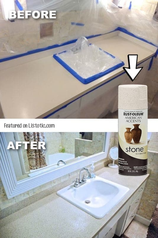 Spray Paint Bathroom Tile