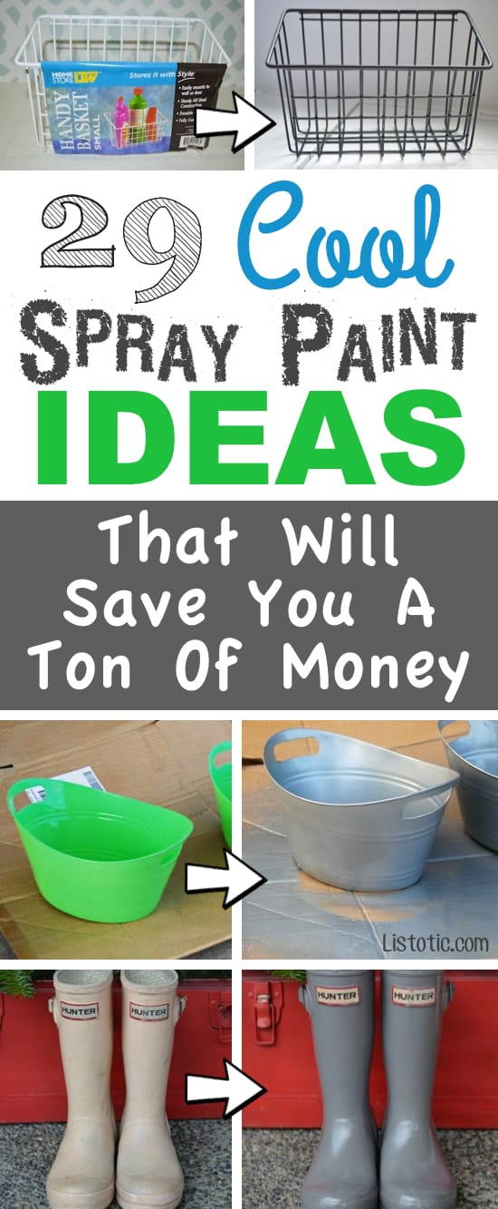 Home Decor Ideas For Lots Of Awesome And Easy Diy Spray Paint