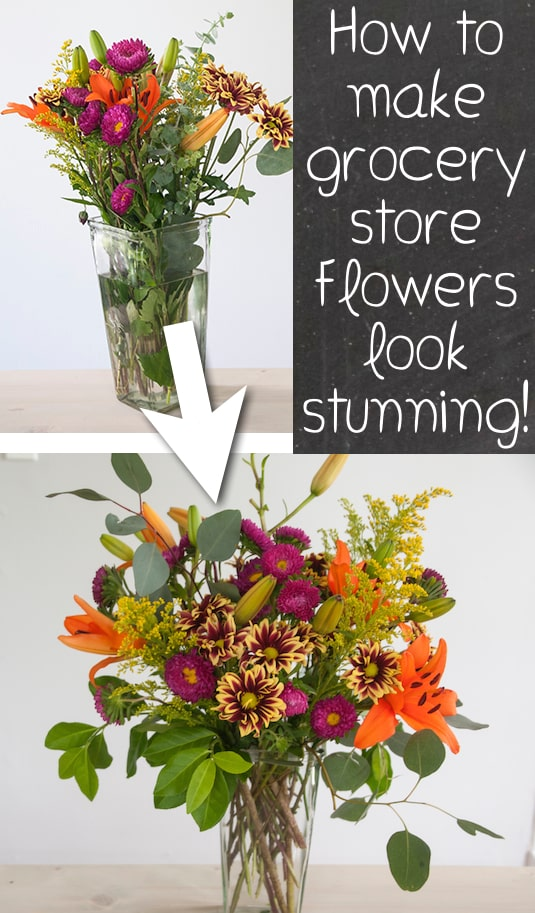 Learn How To Make Grocery Flowers Look Gorgeous 13